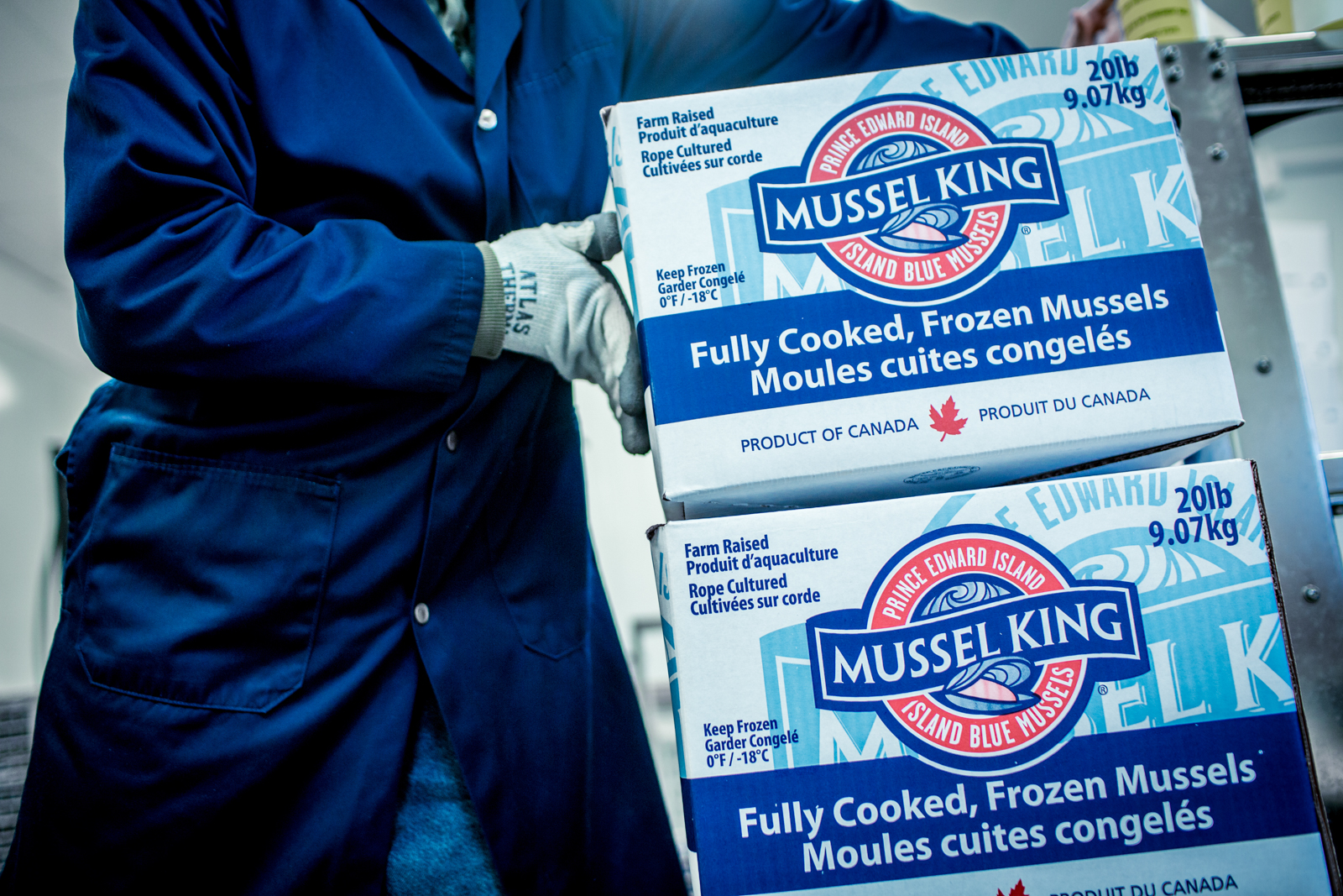 PEI Mussel King boxes