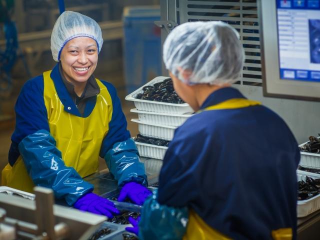 PEI Mussel King worker