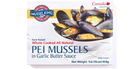 PEI Mussels in Garlic Butter Sauce